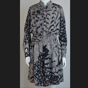 Jessica Simpson Grey Printed Blouson Dress NWOT